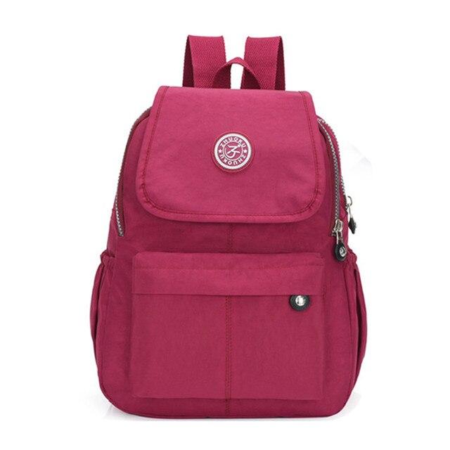 envío complementario mejor lugar para bienes de conveniencia Mochila de nailon para mujer, mochilas moda adolescentes, escolares hombres  y mujeres, mochila hombro