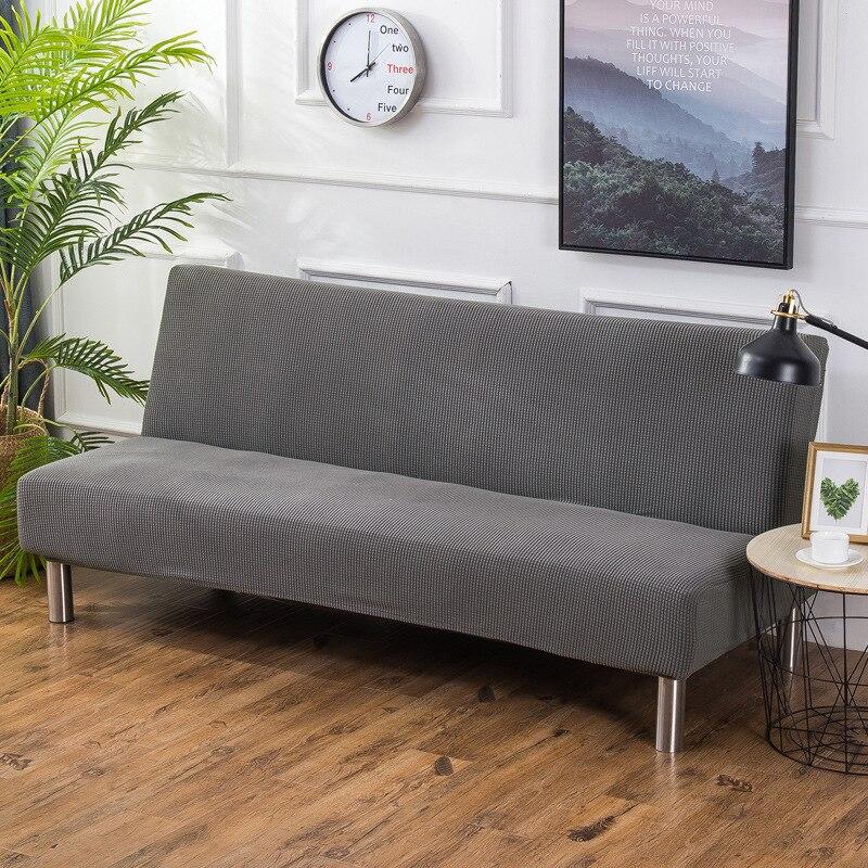 Aliexpress Com Buy Polar Fleece Fabric Armless Sofa Bed