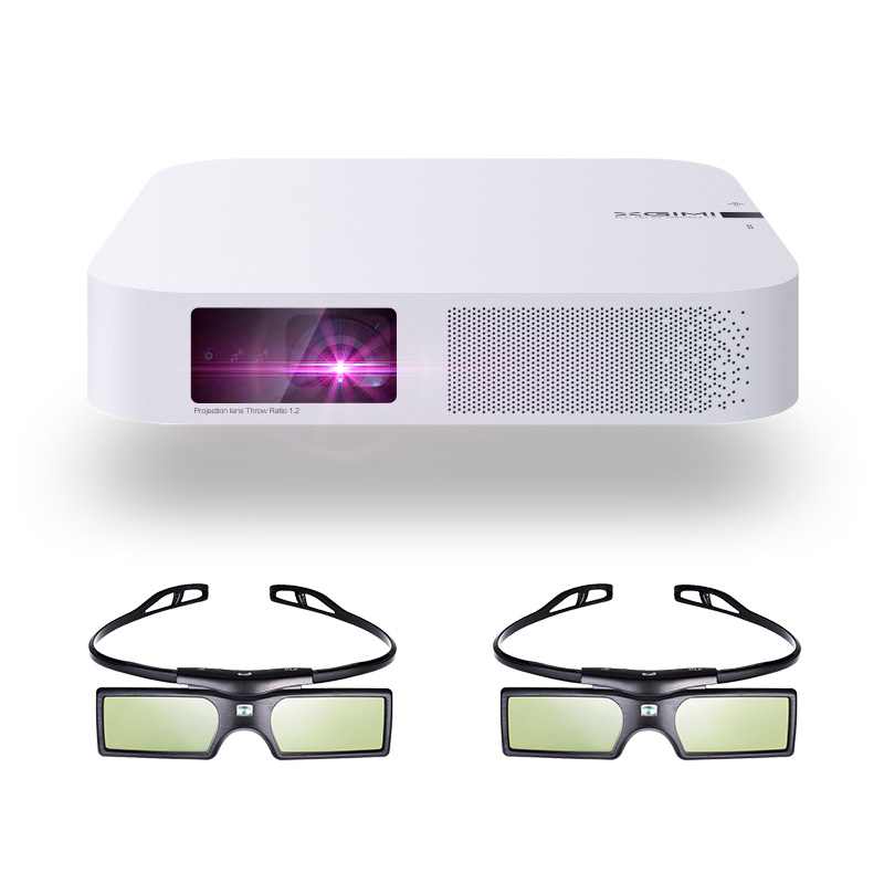 XGIMI Z6 Polar 3D DLP Projector 700ANSI lumens Native 1080P Support 4K Portable Wifi Bluetooth Smart Home Theater + 3D Glasses