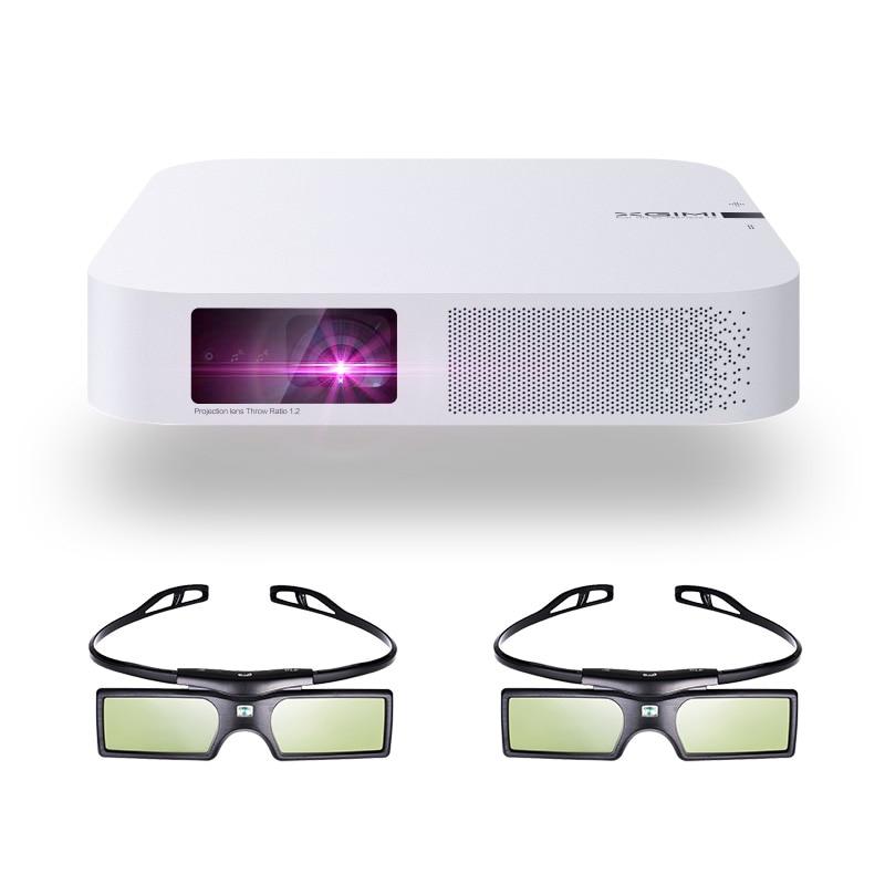 XGIMI Z6 Polare 3D Proiettore DLP 700ANSI lumen Nativa 1080P Supporto 4K Portatile Wifi Bluetooth Smart Home, Casa Intelligente Theater + 3D Occhiali