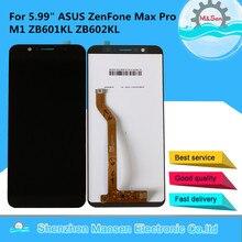 """5.99 """"המקורי M & סן עבור ASUS ZenFone מקסימום פרו M1 ZB601KL ZB602KL LCD מסך תצוגה + מגע פנל digitizer מסגרת עבור ASUS ZB602KL"""