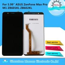 "5.99 ""originale M & Sen Per ASUS ZenFone Max Pro M1 ZB601KL ZB602KL Schermo LCD Display + Touch Panel digitizer Telaio Per ASUS ZB602KL"