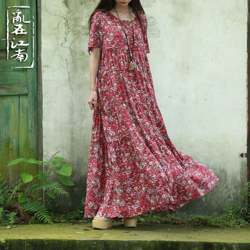 Plus Size Կանացի հագուստ Pure Robe Longue Femme Women - Կանացի հագուստ - Լուսանկար 3