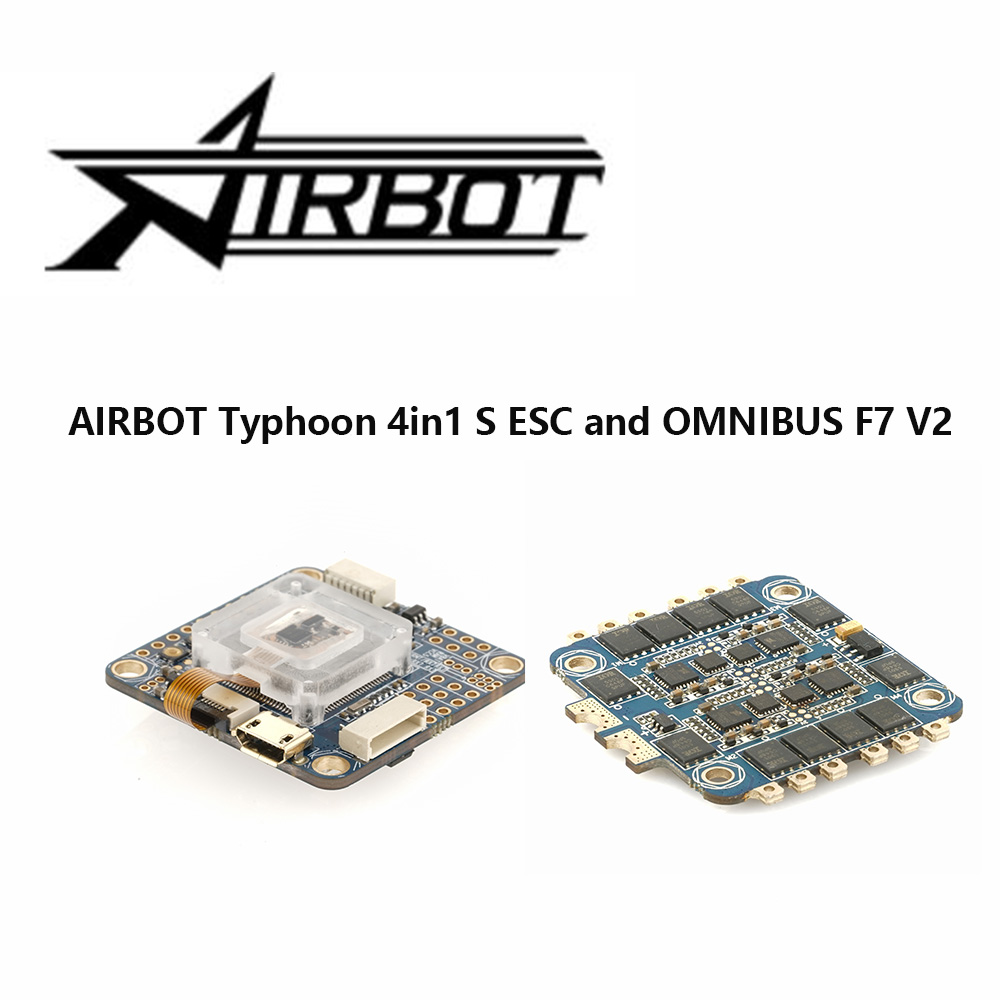 AIRBOT Typhoon 4in1 S ESC 4x30A and OMNIBUS AIO F7 V2 Flight Controller Board For RC FPV Racing Cross Drone Quadcopter omnibus aio f7 v2 flight controller board and 4 pieces wraith32 32bit blheli esc for fpv quadcopter drone frame