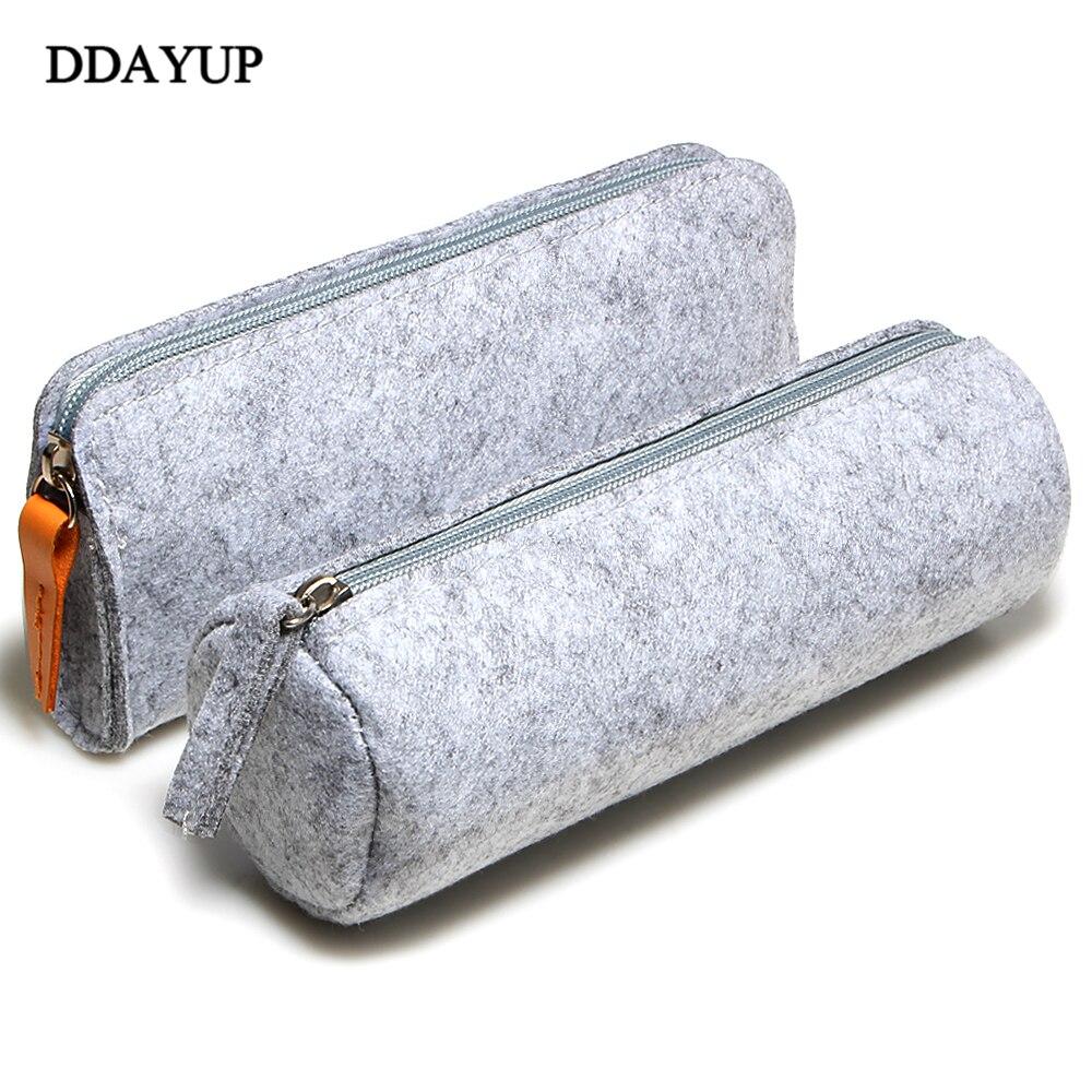 Fashion creative zipper Wool felt pencil case storage Bags Sheep Blankets Pencil Bagschool office supplies