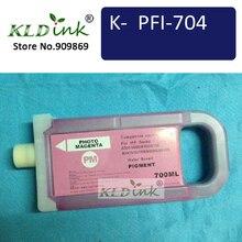 Kldink-PFI-706PM фото пурпурный картридж(PFI704 6686B001 чернил) Совместимость с imagePROGRAF iPF8400, iPF8400S, iPF9400
