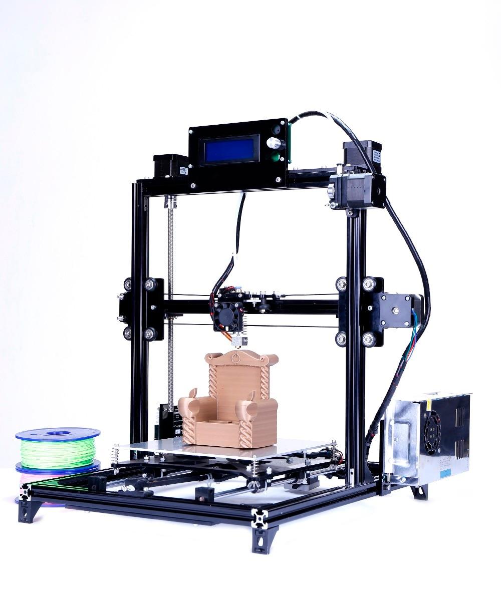 Большой размер печати Flsun I3 3d принтер сенсорный экран двойной экструдер автоматическое выравнивание DIY 3D принтер набор с подогревом кровать...