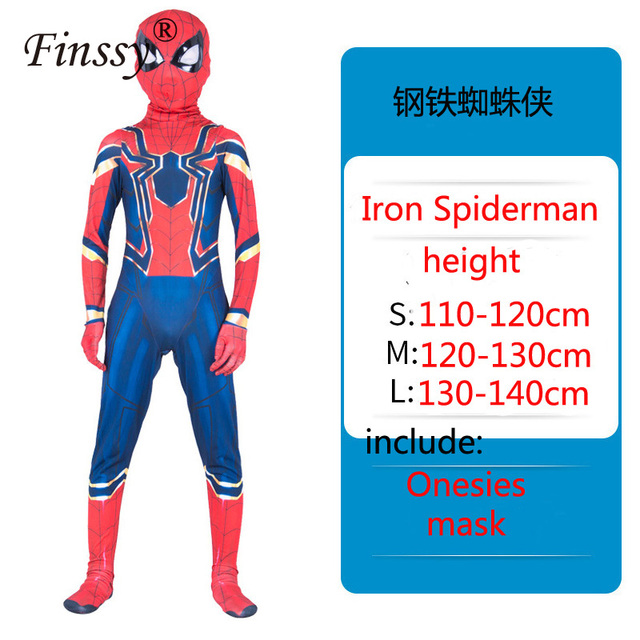 Avengers Cosplay Stage Performance Costumes Holiday Gifts Iron Spiderman Cosplay Halloween Christmas Show Costume
