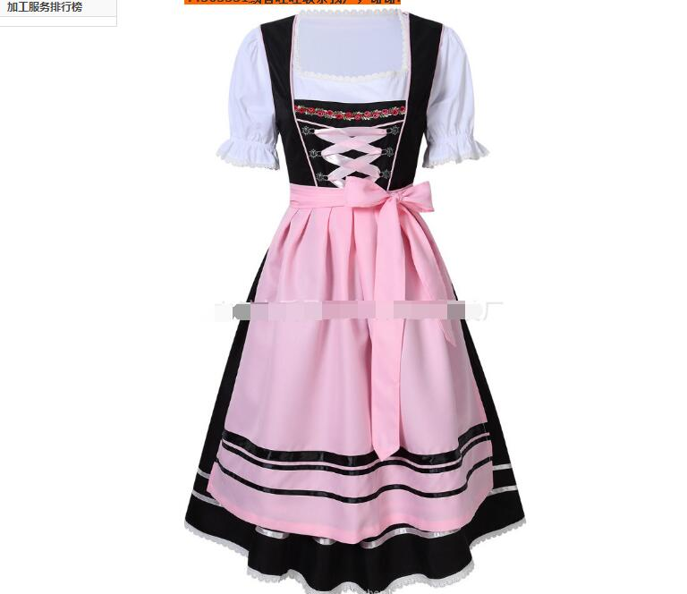 Plus Size 6XL German Beer Maid Costume Women Oktoberfest Dirndl Dress Adult Halloween Party Outfit Bavaria Beer Festival Dress