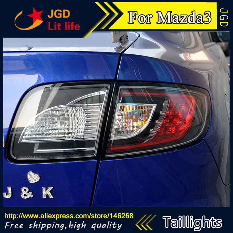 Car Styling tail lights for Mazda3 Mazda 3 taillights LED Tail Lamp rear trunk lamp cover drl+signal+brake+reverse
