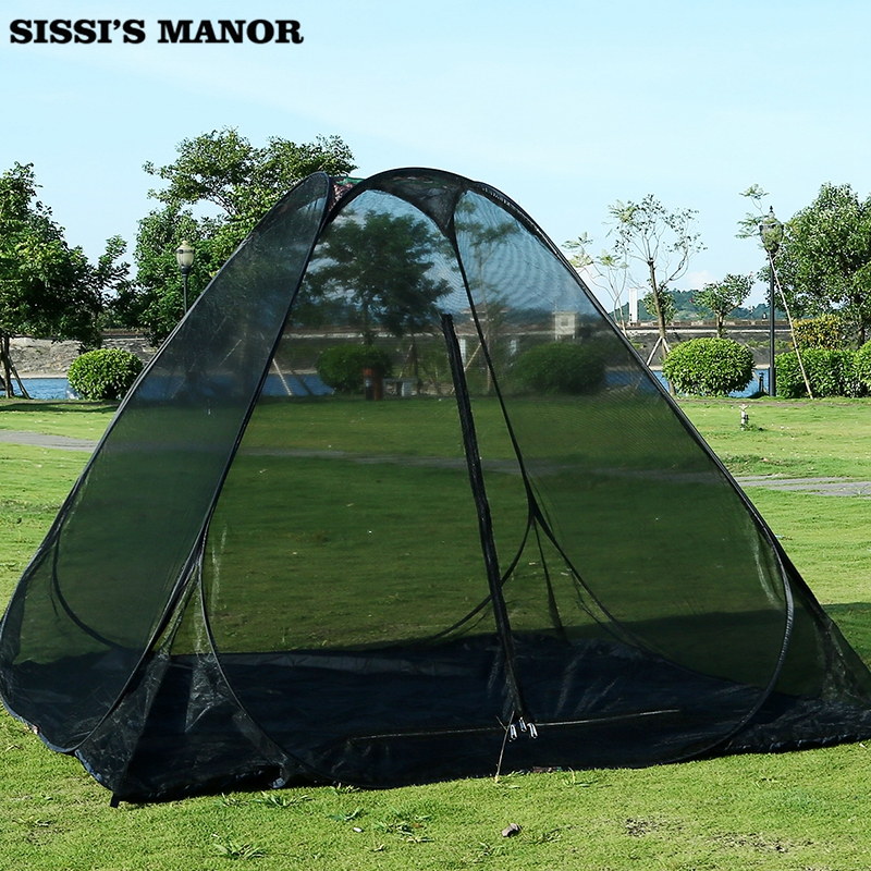 Super large space for three four people rest meditation anti mosquito net outdoor automatic tent free install pop up tent