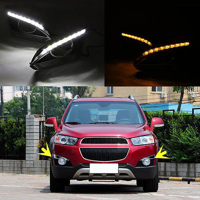 1Set DRL Driving New Daytime Running Day Lamp For Chevrolet Captiva 2011-2014 drl for chevrolet captiva 2013 2016 daytime running lights double color led day driving light with lamp door free shipping