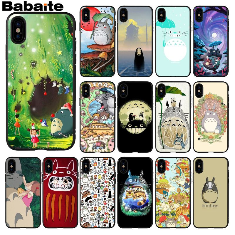 Babaite Studio Ghibli Spirited Totoro Photo Soft Phone Case for Apple iPhone 8 7 6 6S Plus X XS MAX 5 5S SE XR Mobile Cases