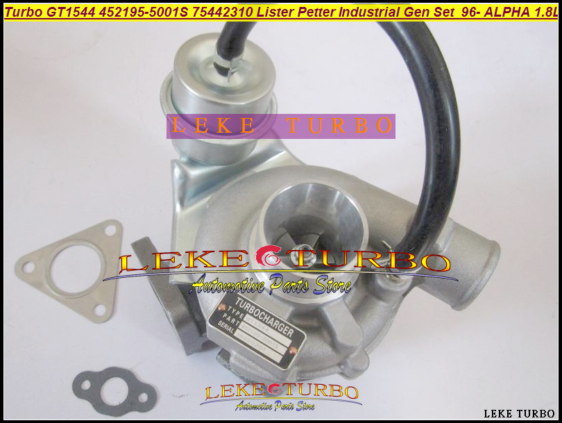 GT1544 452195 452195-5001S 452195-0001 75442310 Turbo Turbocharger For Lister Petter Industrial Gen Set 1996- ALPHA 1.8L Engine new alternator generators 382 08919 38208919 for lister petter