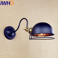IWHD Antique Retro Vintage Wall Lamp LED Swing Long Arm Wall Light Fixtires Loft Style Industrial Sconce Lampara Pared