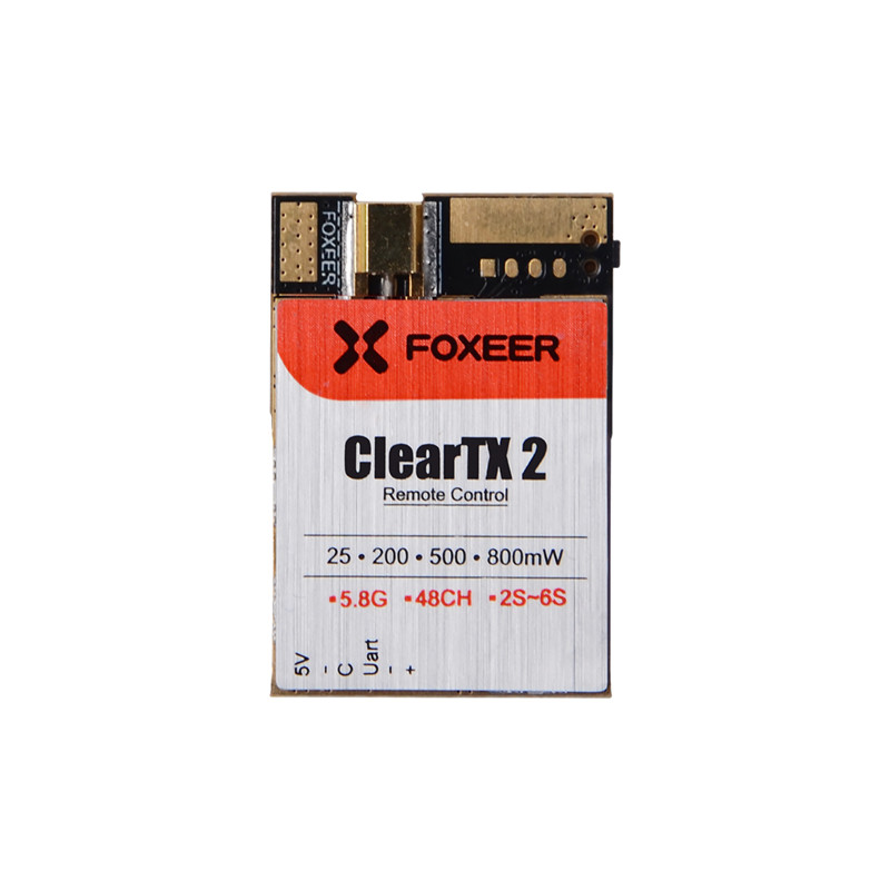 Foxeer ClearTX Update Version ClearTX 2 5.8G 48CH 25mW 200mW 500mW 800mW Remote Control VTx Antenna is excluded