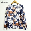 New Animal Pug Full Print Women Men Sweatshirt 3D Funny Hoodies Cute Streetwear Fall Fashion Sweat Shirts Tops Wholesale