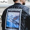 Voltar imprimir manga ma1 bombardeiro jaquetas homens inverno 2017 de algodão acolchoado quente grossa dos homens jaquetas casuais mens clothing m-2xl