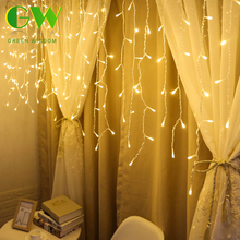 hot deal buy led curtain icicle string lights 220v 4m/5m christmas fairy lights outdoor indoor garland new year party stage lights decoration