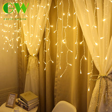 LED Curtain Icicle String Lights 220V 4M/5M Christmas Fairy Lights Outdoor Indoor Garland New Year Party Stage Lights Decoration(China)