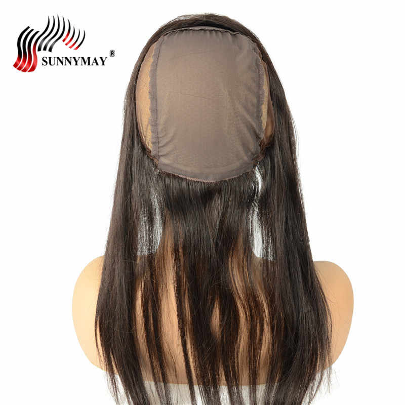 Sunnymay Lace Frontal With Cap For Making Wigs Brazilian Virgin Hair Straight 13x4 Lace Frontal Closure