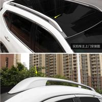 car-styling Aviation aluminum Top Roof Side Rails Luggage Rack case For Nissan Rogue X-Trail 2014-2017