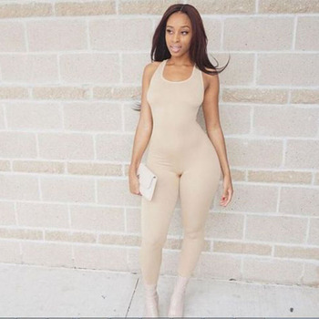2018 Backless Slim Rompers Sexy Women leggings Jumpsuits  Fitness Set One Piece Jumpsuit fashion designer 3