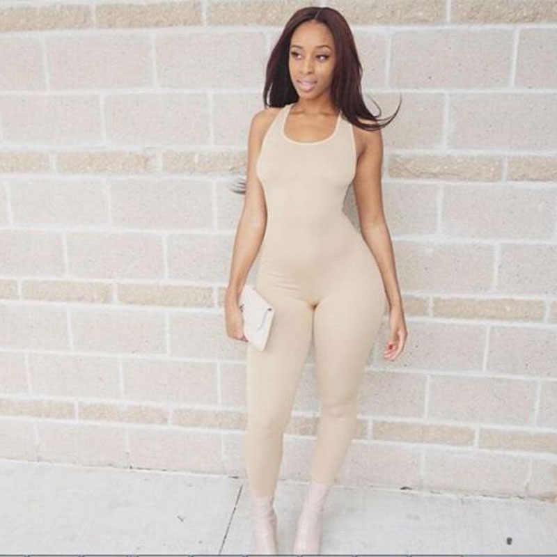 2018 Облегающий комбинезон с открытой спиной, сексуальные женские леггинсы, комбинезон для фитнеса, цельный комбинезон, модный дизайн