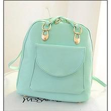 Женщины ежедневно рюкзаки рюкзак девушка школы сумки PU высокое качество конфеты цвет усмешки дорожная сумка