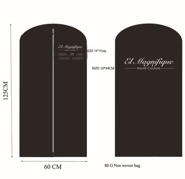 af55a46ba2e custom 60*125cm garment bag suit cover logo printing-in Shopping ...