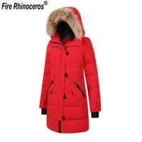 Brand New Womens Duck Down Thick Warm Winter Long Outdoor Parka kensington Coat With Real Removeahle Raccoon Fur