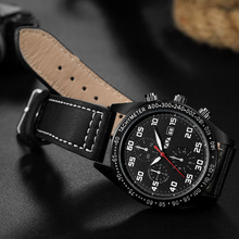 Va Va Voom Men's Sports Military Quartz Watches Chronograph Chronograph Third Table Multifunction Water Resistant Wristwatch