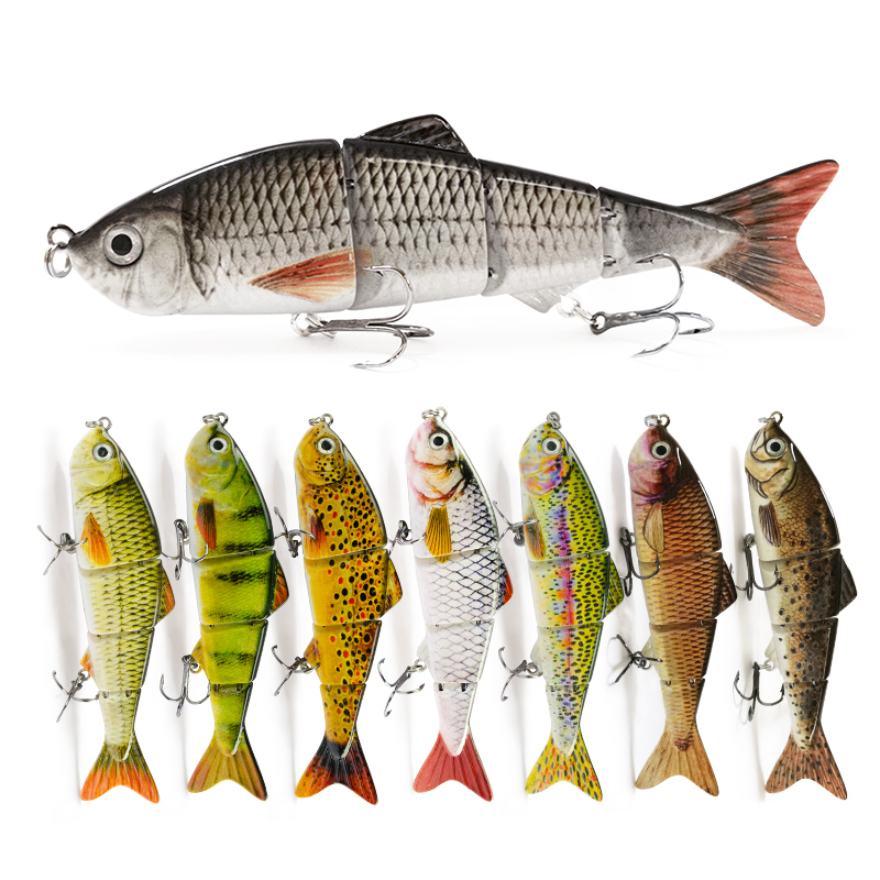 1PC Hotsale 12cm Fishing Lure Multi Jointed Hard Bait 16.5g Lifelike Joint Bait Wobblers Sinking Swimbait Fishing Lure Crankbait