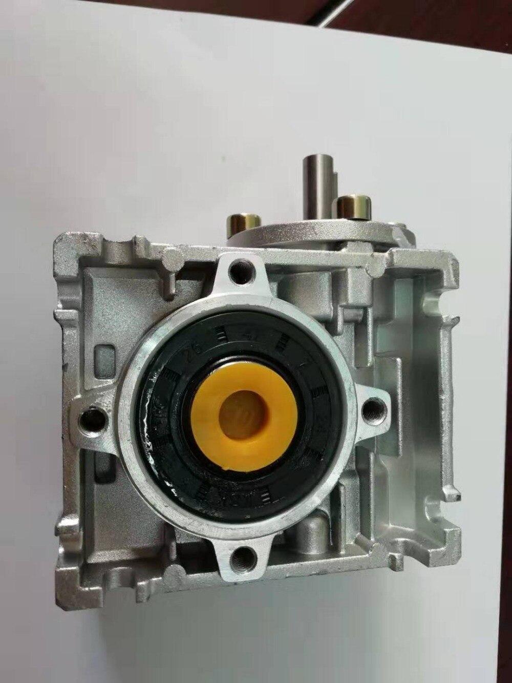 5:1-100:1 NRV40 shaft input worm gear reducer, input hole 11mm output hole 18mm or 19mm, hand crank turbine reducer5:1-100:1 NRV40 shaft input worm gear reducer, input hole 11mm output hole 18mm or 19mm, hand crank turbine reducer