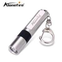 ALONDFIRE S107 CREE XPE Q5 LED In acciaio inox impermeabile Mini torcia Portachiavi luce per AAA o 10440 batterie Ricaricabili