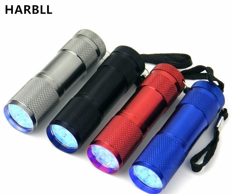 HARBLL R134a R410 R12 automotive air conditioning repair tools 9 LED UV violet fluorescent agent leak detection flashlight