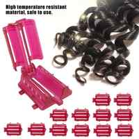 30Pcs Professional Roller Curler Wave Perm Rod Hair Curling Home Use DIY Magic Hair Rollers Curlers Wave Fluffy Hair Styling
