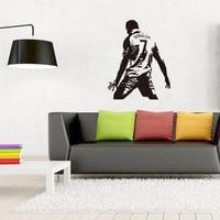 50 шт./упак. Реал Мадрид Роналду арт винил Кристиано футбол стены стикера Декор Бесплатная доставка