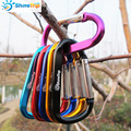 4PCS ShineTrip Aluminum D Shape Buckle Carabiner Survial Key Chain Carabine Hook Clip Camping Equipment EDC Paracord Buckles