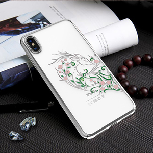 Image 5 - IPhone X/ XS/ XS 용 Kingxbar 다이아몬드 커버 케이스 iPhone XS/ MAX 용 스와 로브 스키 라인 석 케이스에서 크리스털로 장식 된 최대