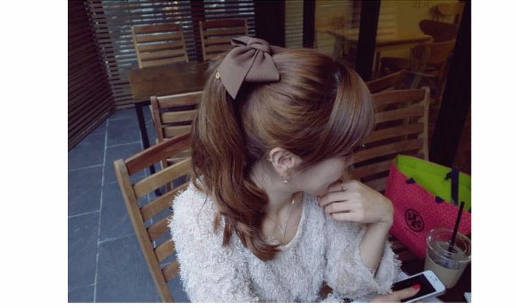 HTB1fL3ROFXXXXX6XVXXq6xXFXXXW Pretty Solid Cloth Big Bow Hair Clip For Women - 7 Colors