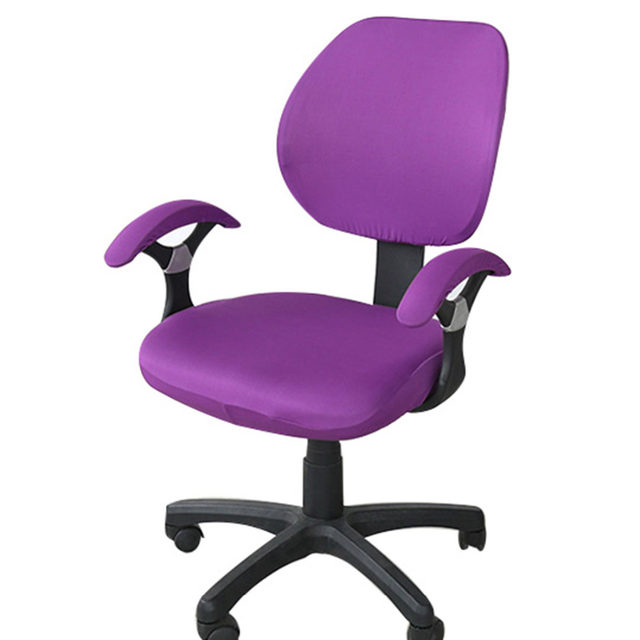 Stretch Armchair Cover Office Computer Chair Covers Spandex Rotating For Ofiice Chairs 6 Colors