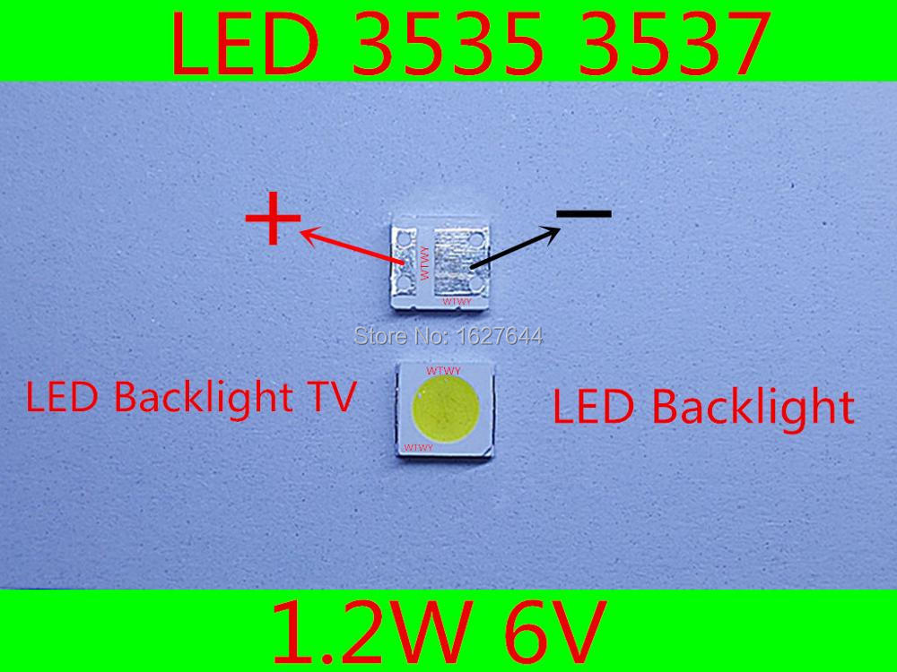 Active Components 50pcs Led Backlight High Power Led 0.8w 2828 6v Cool White 45lm Gm2bb1zf2cem Tv Application For Sharp