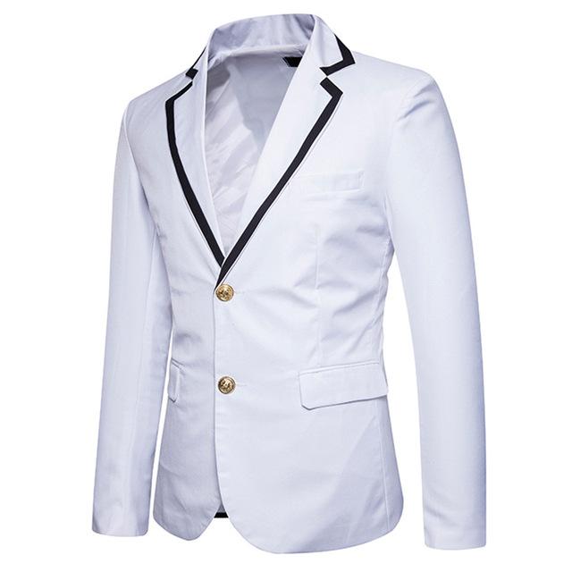 New School Formal Blazer Men Slim Fit Suit Jacket For Men White Men's Blazer Jacket Spring Blazer Xadrez Masculino EU/US size