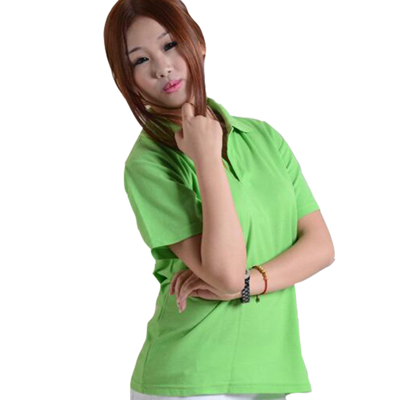 Brand Summer Female Tops Casual Solid Polo Women Breathable Polo Shirts Ladies Slim Short Sleeve Camisa Plus Size M~3XL 14 Color