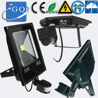 10 w 20 30 50 70 100 conduziu a luz de inundação ac220v dc12v preto escudo projectores pir sensor movimento indução lâmpada sentido