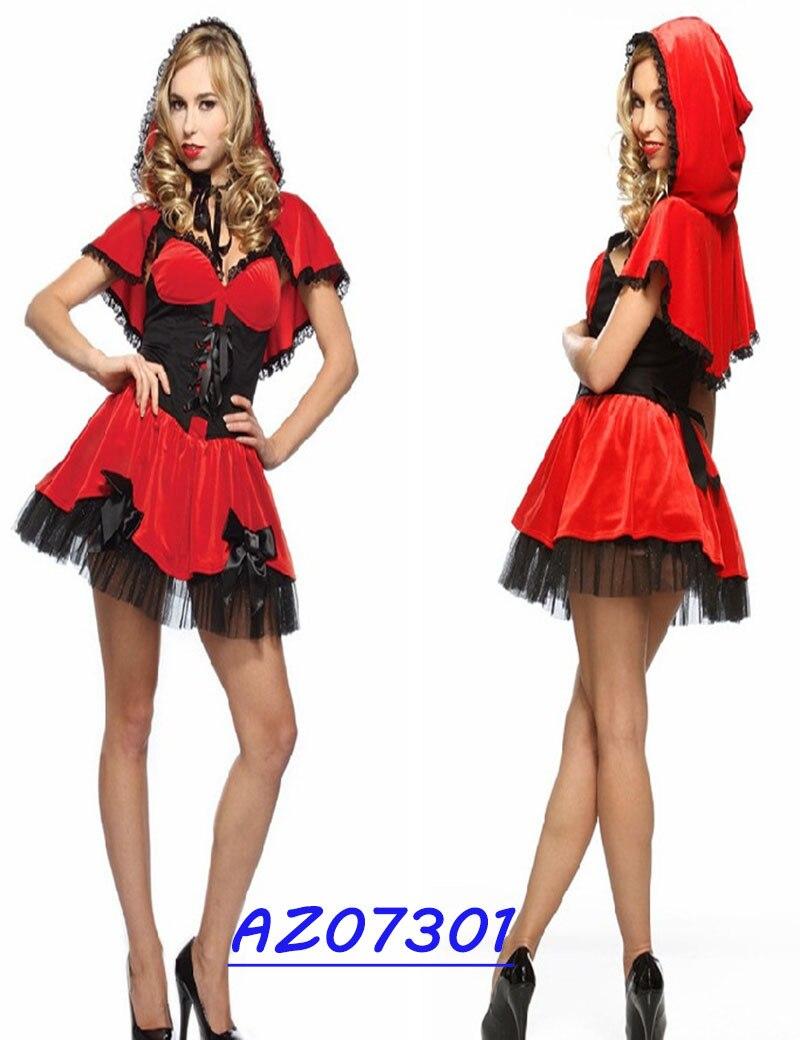 Различные Стиль Хэллоуин Sexy Косплэй Красная Шапочка костюмы для Для женщин Рождество Пром показать Замок принцессы игры Костюмы