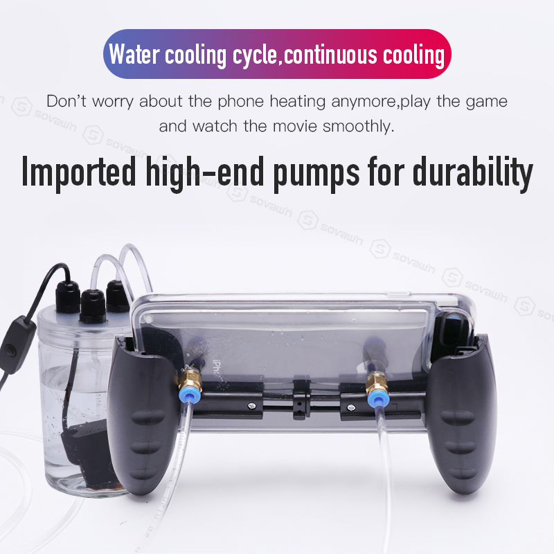 Image 3 - Sovawin Mobile Phone Cooling Fan Smartphone Pubg Controller Gamepad Cooler in Water Circulating Cooing Fan Case For iPhone 7P XR-in Mobile Phone Coolers from Cellphones & Telecommunications