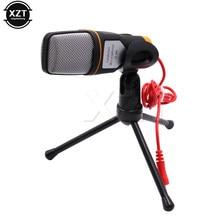 Microfone de áudio estéreo profissional, com fio de SF-666 mm e suporte, clipe para pc, karaoquê, 1 peça venda de venda
