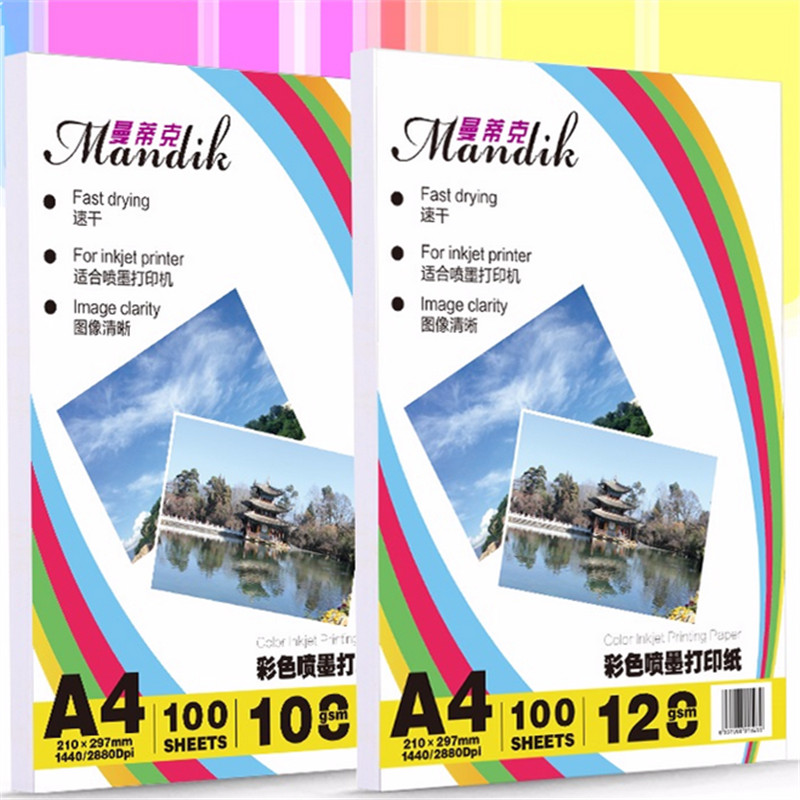 100 feuilles 108g 128g A3 A4 Papier photo mat simple face pour imprimantes jet d'encre couleur